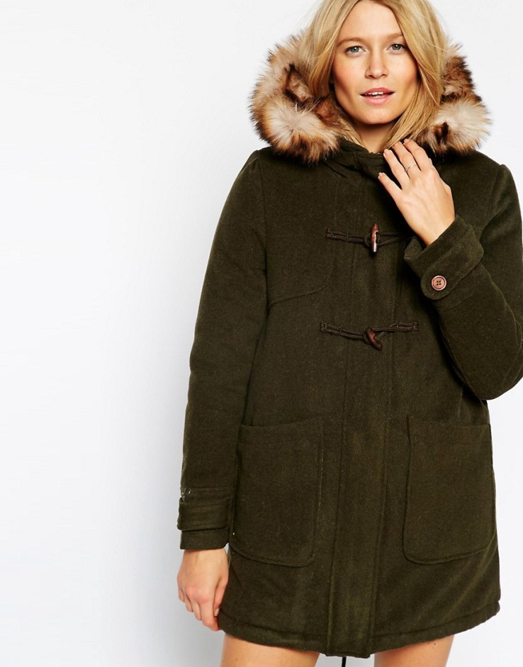 ASOS Duffle Parka in Wool