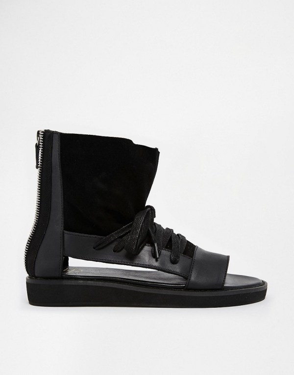 Revolver Ankle Cuff Flat Sandals Asos