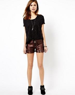 Image 1 of One Teaspoon Mariachi Morrison Shorts in Leather