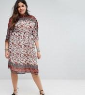 Boohoo Plus Boohoo Plus Paisley Print Midi Dress - Multi 2018