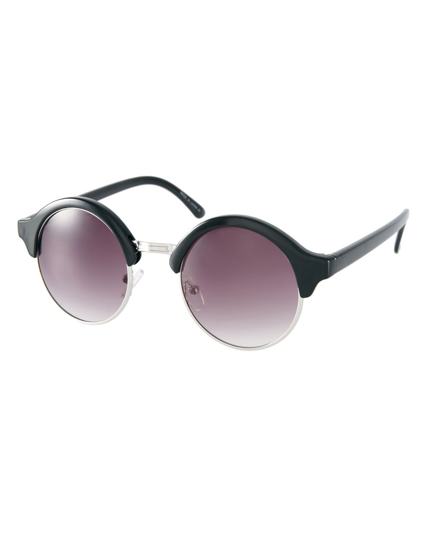 Asos half round sunglasses with metal bridge detail