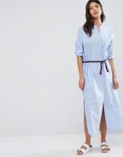 Maison Scotch Maison Scotch Maxi Shirt Dress - Blue 2018