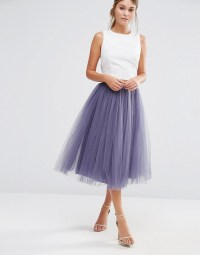 Little Mistress | Little Mistress Tulle Midi Skirt at ASOS