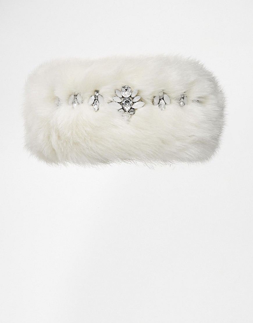 Image 2 of River Island Faux Fur Embellished Headband