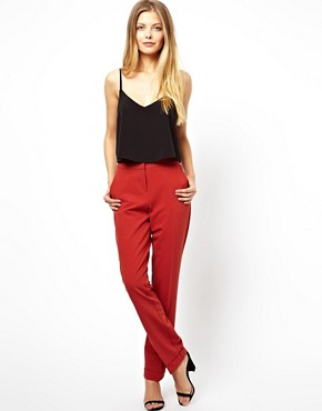 Image 1 of ASOS Pants in Straight Leg with Jet Pocket