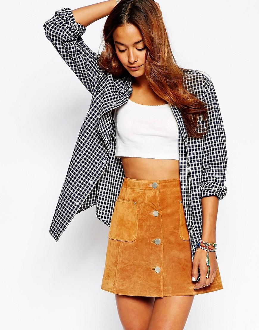 Image 1 ofPop Boutique Flannel Shirt in Mini Check