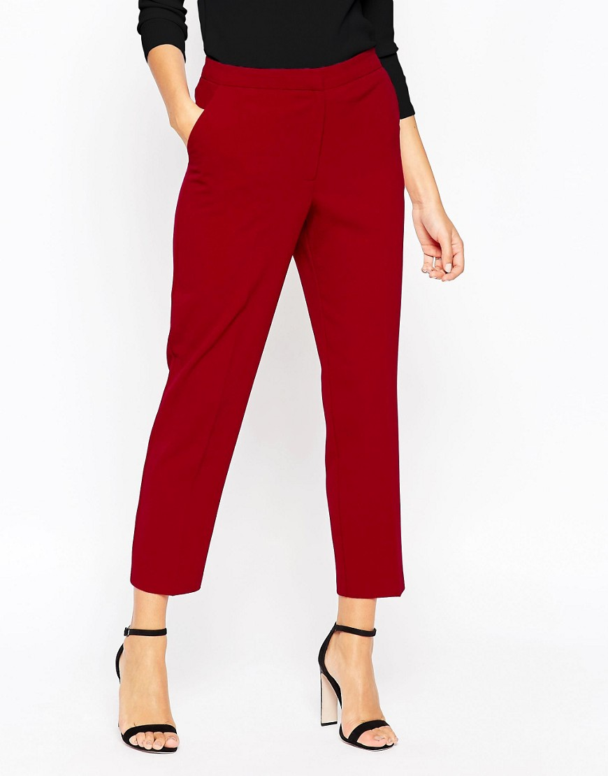 Image 4 of ASOS Ankle Grazer Cigarette Trouser in Crepe