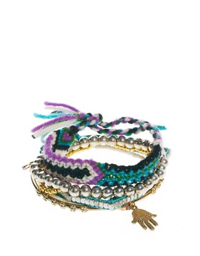 Image 1 of River Island Friendship Bracelet Multipack