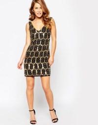 Maya Petite Plunge Embellished Shift Dress UK SIZE 14 | eBay