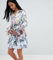 White Cove Petite White Cove Petite All Over Multi Floral Print Smock Dress - Multi 2018