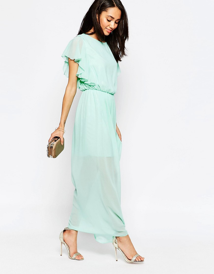 Image 4 of John Zack Petite Maxi Dress With Thigh Splits
