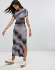 TOMMY HILFIGER DENIM Tommy Hilfiger Denim Striped Bodycon Midi Dress - Navy 2018