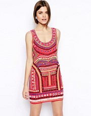 ASOS Embellished Cage Shift Dress