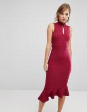 Silver Bloom Silver Bloom Open Back Midi Dress - Red 2018