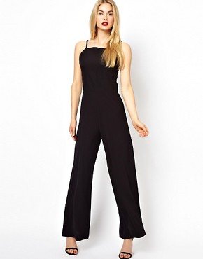 AQ AQ Divine Jumpsuit With high Neck And Wide Leg