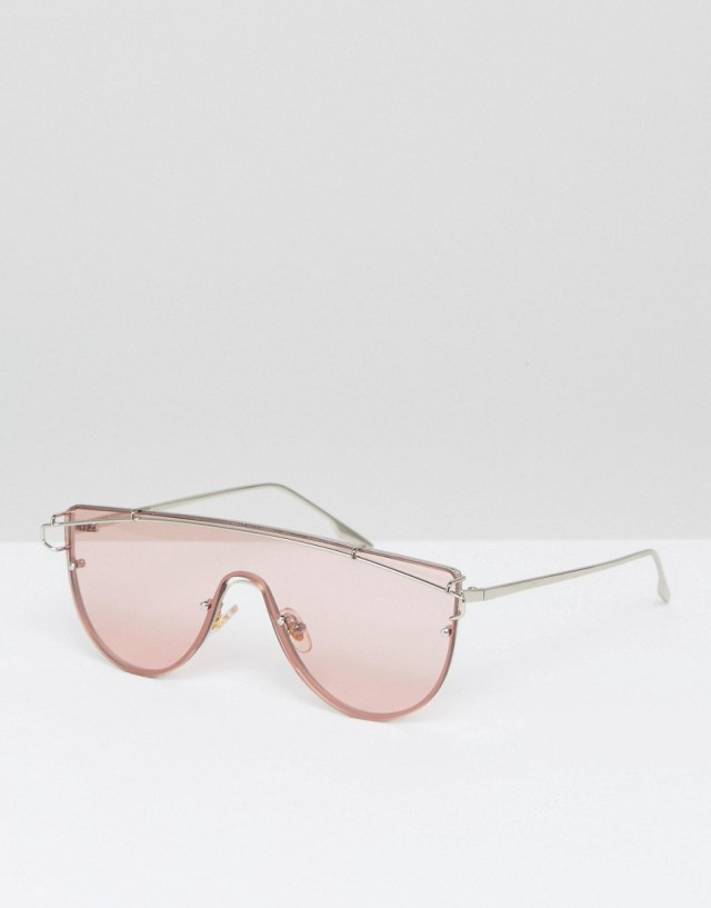 Jeepers Peepers Pink Tinted Lens Visor Sunglasses, $15