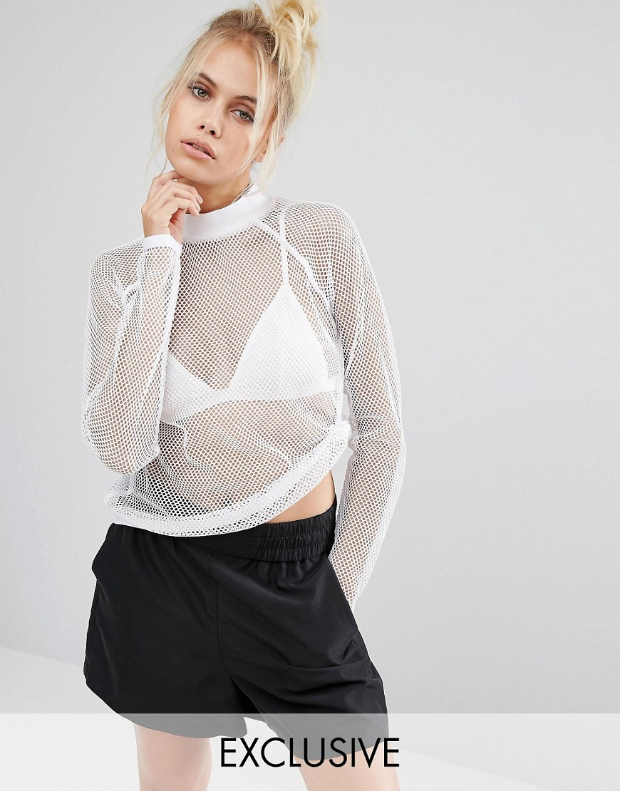 Image 1 of Puma Exclusive To ASOS Mesh Long Sleeve Top In White