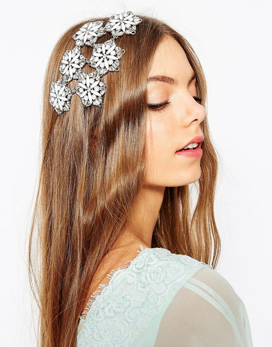 Image 1 of ASOS Wedding Embellished Flower Occasion Hair Clip