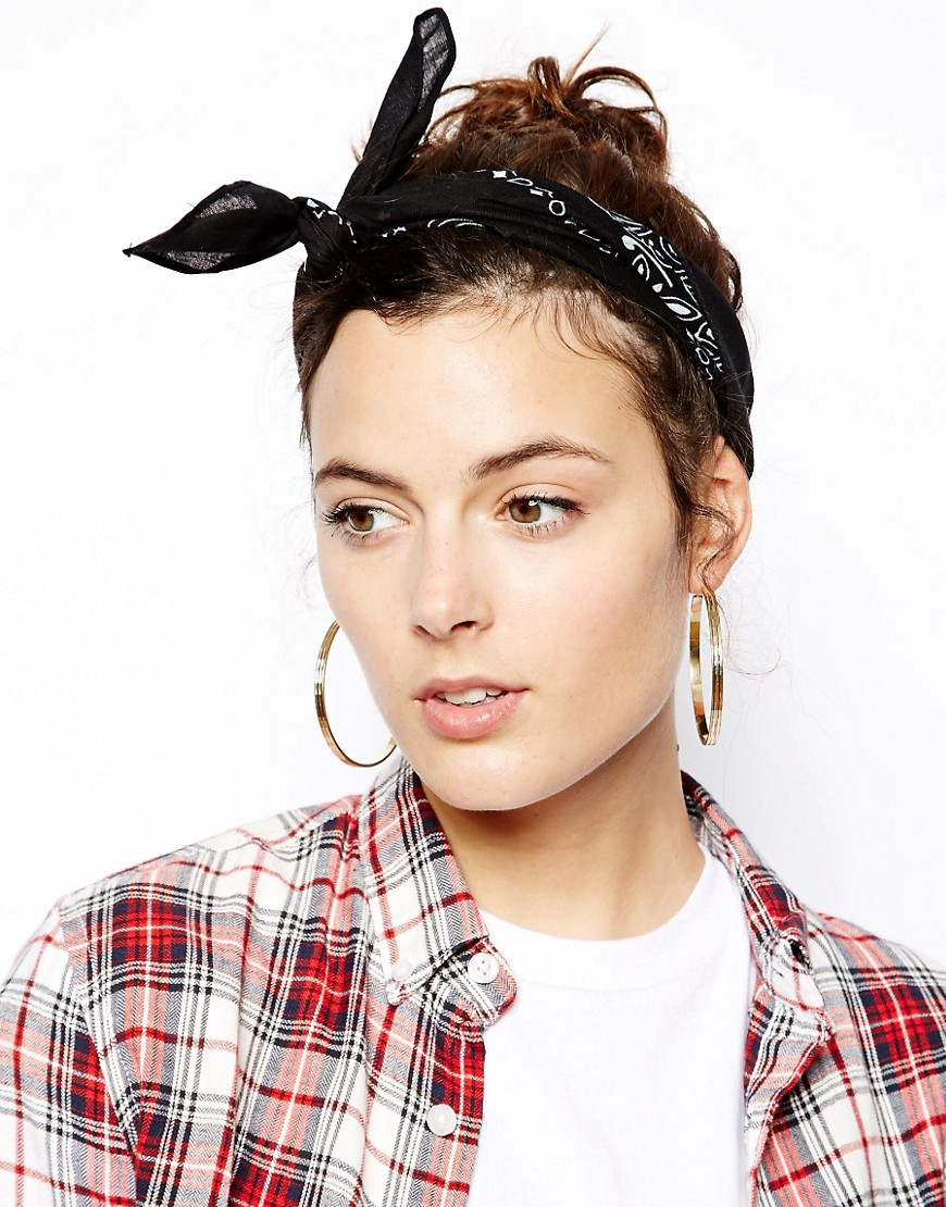 Image 1 of ASOS Bandana Print Headscarf Neckerchief