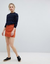 MiH Jeans M.i.h Jeans Arrow Mini Denim Skirt - Orange 2018