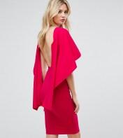 City Goddess Tall City Goddess tall Midi Dress With Ruffle Sleeve - Pink 2018
