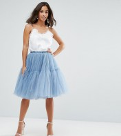 True Decadence Petite True Decadence Petite Tulle Skirt - Blue 2018