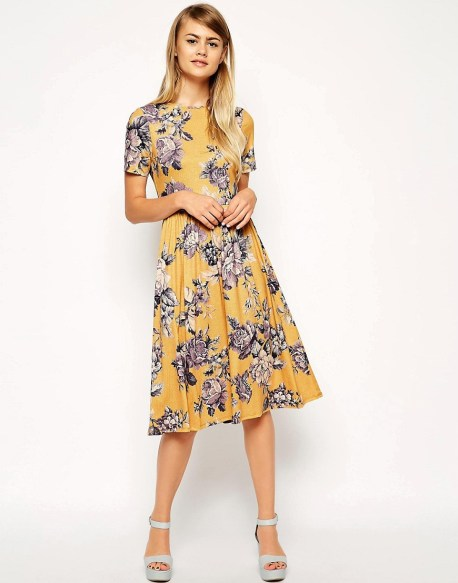 Midi Skater Dress in Tapestry Floral Print £28 from ASOS