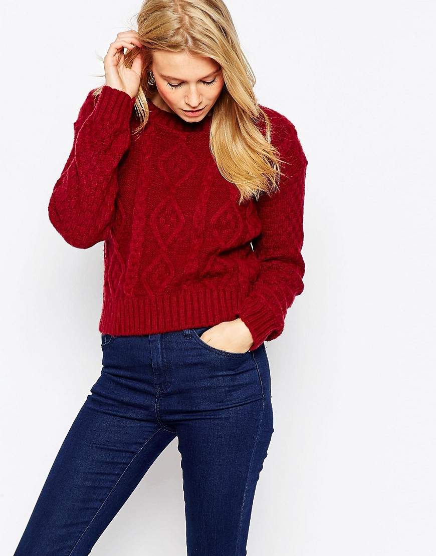 Image 1 of Glamorous Cable Knit Jumper
