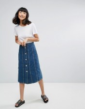 M.i.h Jeans Simone Panelled Denim Midi Skirt - Blue