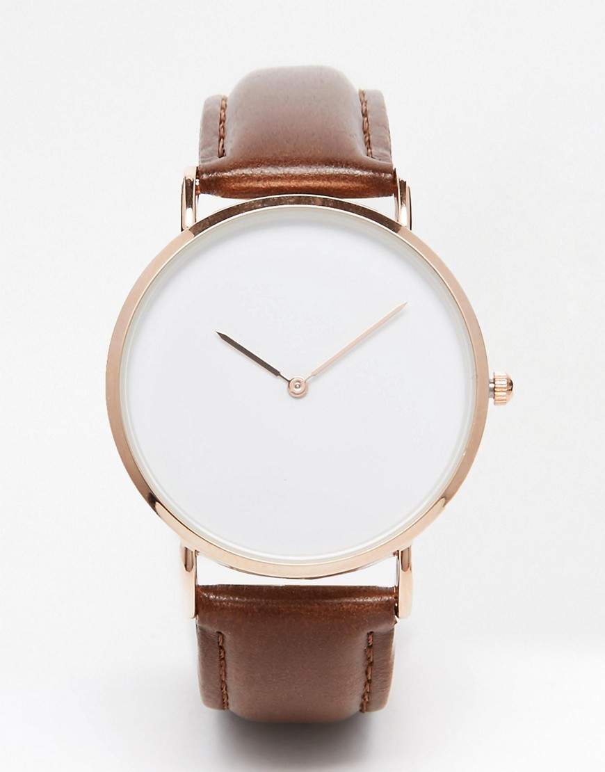 Image 1 of Reclaimed Vintage Leather Strap Watch
