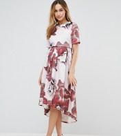 ASOS Maternity - Nursing ASOS Maternity NURSING Floral Print T-Shirt Dress With Dip Back - Multi 2018