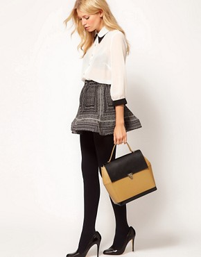 Image 3 of ASOS Leather Boxy Bag With Top Handle