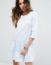 PIMKIE Pimkie 3/4 Sleeve Frill Hem Dress - Blue 2018
