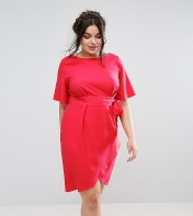 Closet Plus Closet Plus Wrap Front Dress - Pink 2018