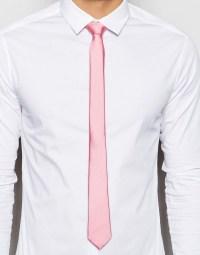Pink Tie White Shirt | Artee Shirt