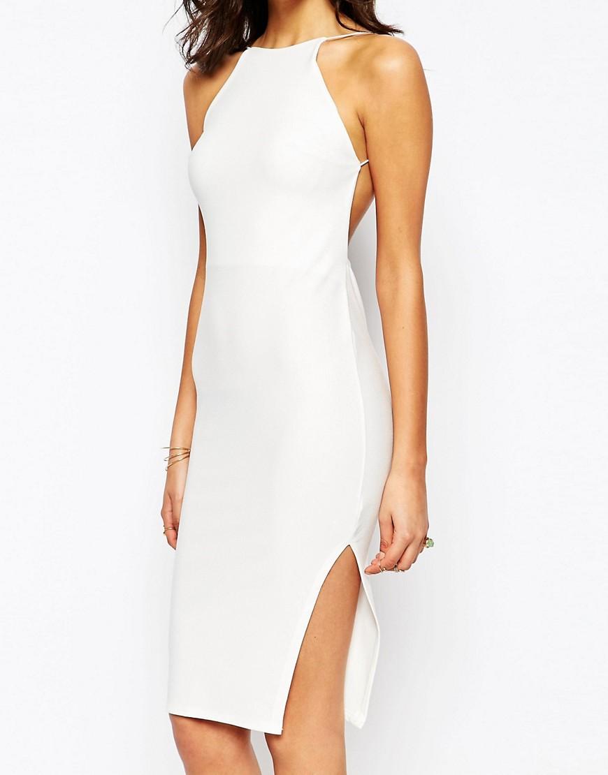 Image 3 ofBoohoo Crepe Bodycon Midi Dress