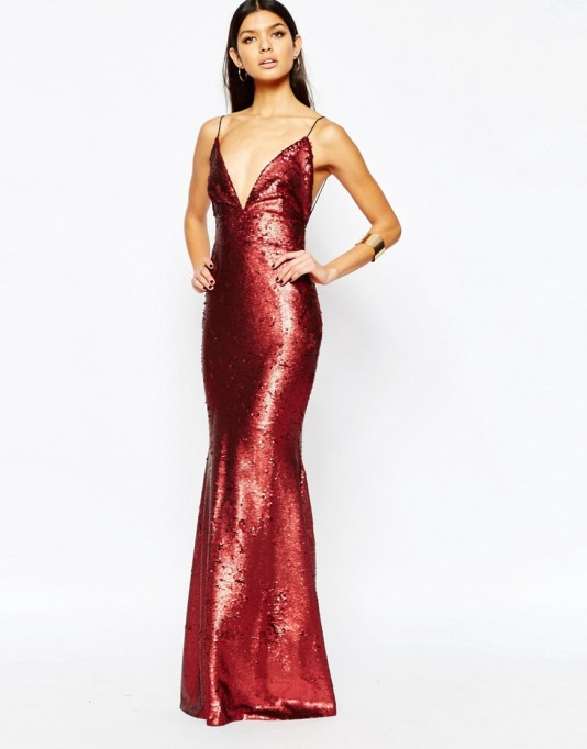 Image 2 of Club L Showstopper Open Back Sequin Maxi Dress With Fishtail
