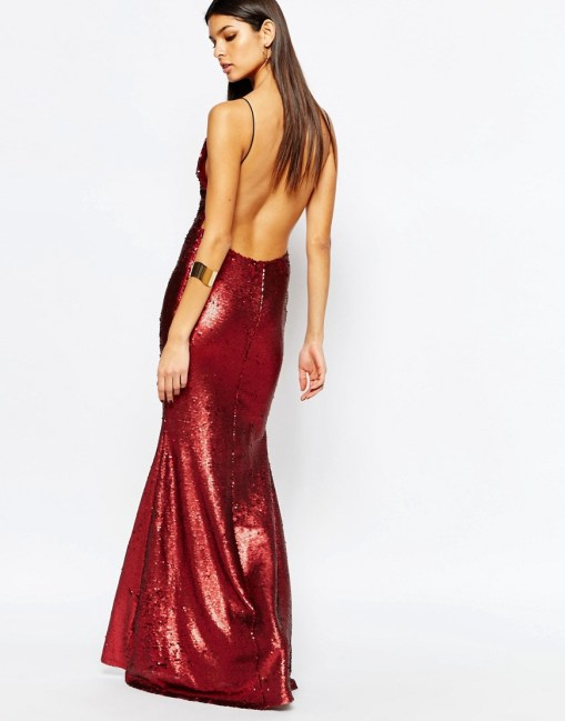 Image 4 of Club L Showstopper Open Back Sequin Maxi Dress With Fishtail