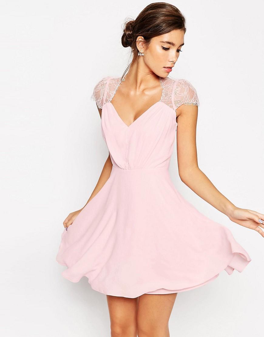 Image 1 ofASOS Kate Lace Mini Dress