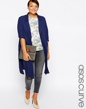 ASOS CURVE Duster in Lightweight Crepe
