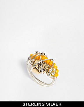 Image 1 ofKat & Bee Tribeca Sterling Silver Bead & Wire Ring