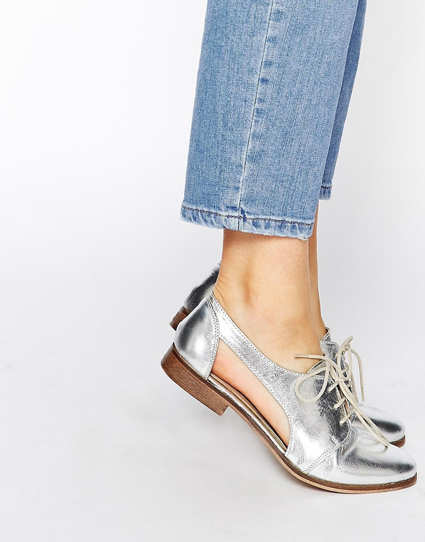 Image 1 of ASOS MIGHT YOU Cut Out Leather Jazz Shoes