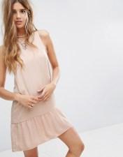 PIMKIE Pimkie Frill Hem Sleeveless Jersey Dress - Beige 2018