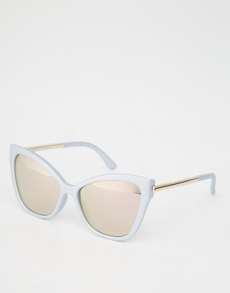 Le Specs Naked Eyes Mirror Sunglasses - Matte glacier
