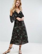 Walter Baker Walter Baker Eleanor Dress in Desert Bloom - Black 2018