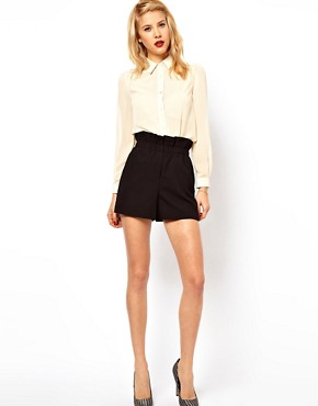 Image 1 of ASOS Shorts With Ruched Waistband