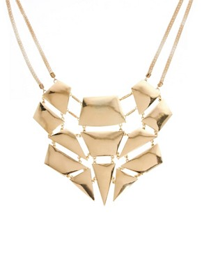 Image 1 ofNew Look Limited Edition Sleek Geo Bib Necklace