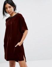 DKNY DKNY Velvet Half Sleeve Sleep Shirt - Red 2018