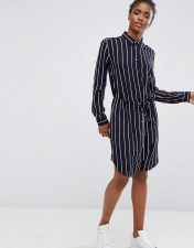 mbyM Mbym Belted Striped Shirt Dress - Multi 2018