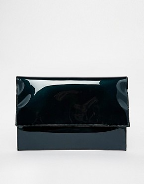 Image 1 of ASOS Oil Slick Foldover Clutch Bag